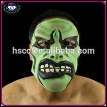 Novelty latex green masquerade masks scary monster masks china manufacturer