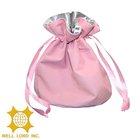 Hot selling pink small cute portable wedding gift drawstring bag gift