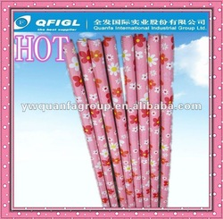wooden broom stick covered with pvc