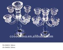 Elegant Crystal Glass Candelabra for Wedding Decoration