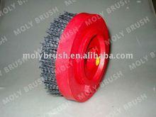 snail lock abrasive nylon polishing brush