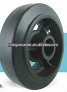 Rubber tread Cast Iron Center Casters and Wheels