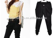 2012 latest lady fashion black pants