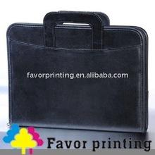 Luxury leather handle portfolio with embossed LOGO (F-J83)