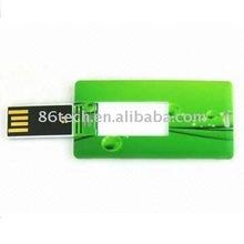 Popular promotional credit card thumb drive/card usb flash drive