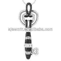 Vintage designs for woman 925 silver key pendant cross man jewelries