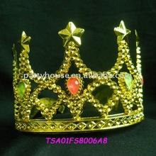 Plastic Plating Kings Metal Crowns With Diamond