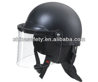 SLU-RH-13B anti-riot military helmets with ABS shell and PC visor