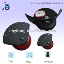durable black plastic PU ball bearing luggage corner caster wheels