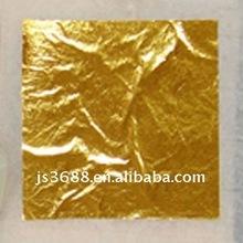 Profesional de la fabricación 9.33 * 9.33 cm 24 K oro puro de la hoja