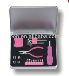 23pcs promotion pink tool set for women