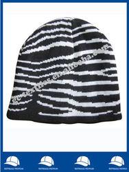 Zebra Knitted Beanie Hat
