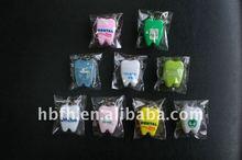 Teeth-shape Dental Floss, waxed and mint