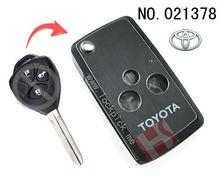 Brand new car 3 button flip remote key casing / 021378