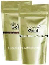 Gold Printing Stand up waterproof freshful ziplock Pouches