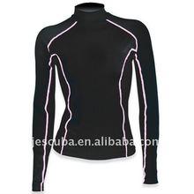 Girl's Long Sleeve black Rash Guard, size xl. New