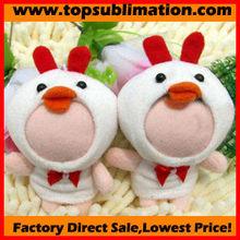 8cm tiny duck 3d face dolls