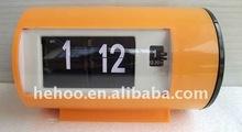 Modern automatic flip calendar alarm analog clock am pm
