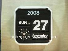 automatic analog flip clock calendar clock for decor