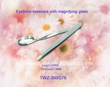 eyebrow tweezers with magnifying glass