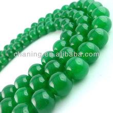Fashion gemstone round beads green jade beads