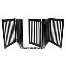 Folding Walk Through 4 Panel Wood Pet Gate/ Safety dog fence (32H, 108W) -E