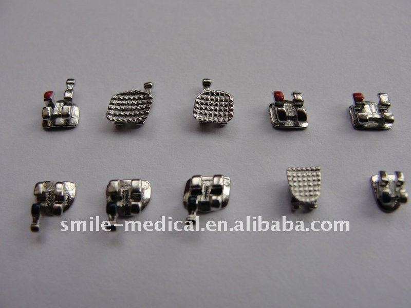 Photos Different Types Orthodontic Braces http://smile-medical.en.alibaba.com/product/487422410-212623653/MIM_Brackets_Roth_Mini_Hook_345_.html