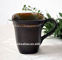 Beaded Pearl Stoneware Mugs with embossed raised-enamel dots