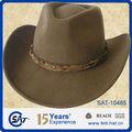 100% lã sentiu olhar ocidental chapéu de cowboy