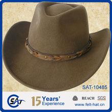 100% wool felt Western looking cowboy hat