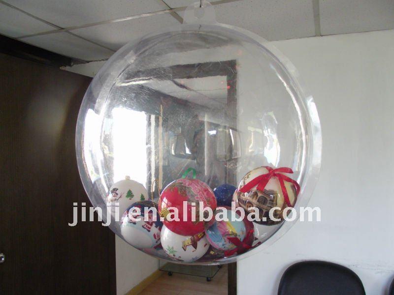 boule de decoration en plastique boule de decoration en plastique transparent et couleur chocolat