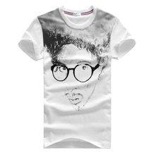 women fashionable 65%polyester 35% cotton CVC COTTON print t shirt