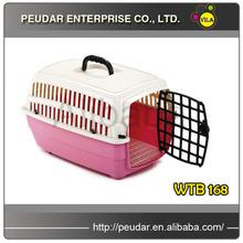 pink folding pet carrier