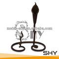 Titular de la vela de hierro forjado, candelabros baratos al por mayor