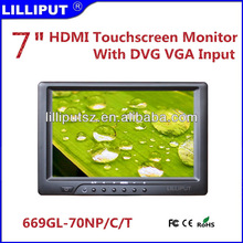 669GL-70NP/C/T cheap 7 inch mini computer monitor with touch screen