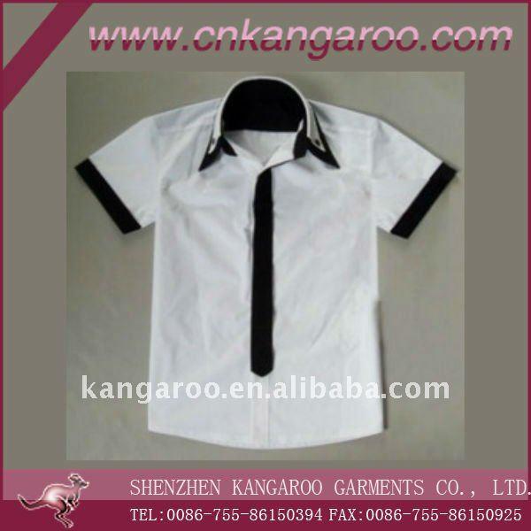 White color school uniform shirts, Girls 100%cotton white shirt
