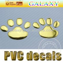 Wholesale Promotional 3D Car PVC sticker/beautiful girl automobile car label//Silver color automobile sticker /car decoration