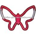 de aluminio de la mariposa forma mosquetón gancho con el logotipo de