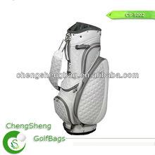 White golf staff bag cart bag