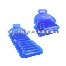 clear pvc inflatable foldable sofa for water relax