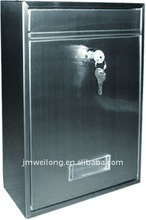Durable stainless steel letterbox