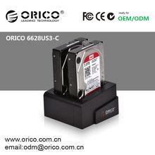 "ORICO 6628US3-C 2 bay 2.5 "" & 3.5 -inch SATA Hard drive docking station , Hard Disk duplicator HDD Cloner"