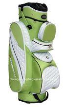 Green PU Custom Golf Bag For Ladies