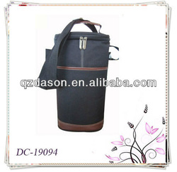 Insulated Two Wine Bottle Cooler Bag With Pocket