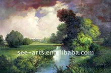 handmade beautiful landscape natural scenery painting