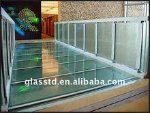 tempered glass aisle for internal walkways between floors