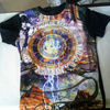 wholesale quality custom all over polyester dye sublimation t-shirt printing