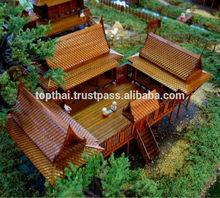 CHRISTMAS GIFT THAI TRADITIONAL TEAK HOUSE MINIATURE DREAM HOUSE MODEL HOME DECOR THAI SPIRIT HOUSE MODEL