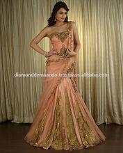 Indian wedding dress, lehenga style designer wear 2015