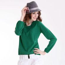 Pure Cashmere V-Neck Pullover of women apparel